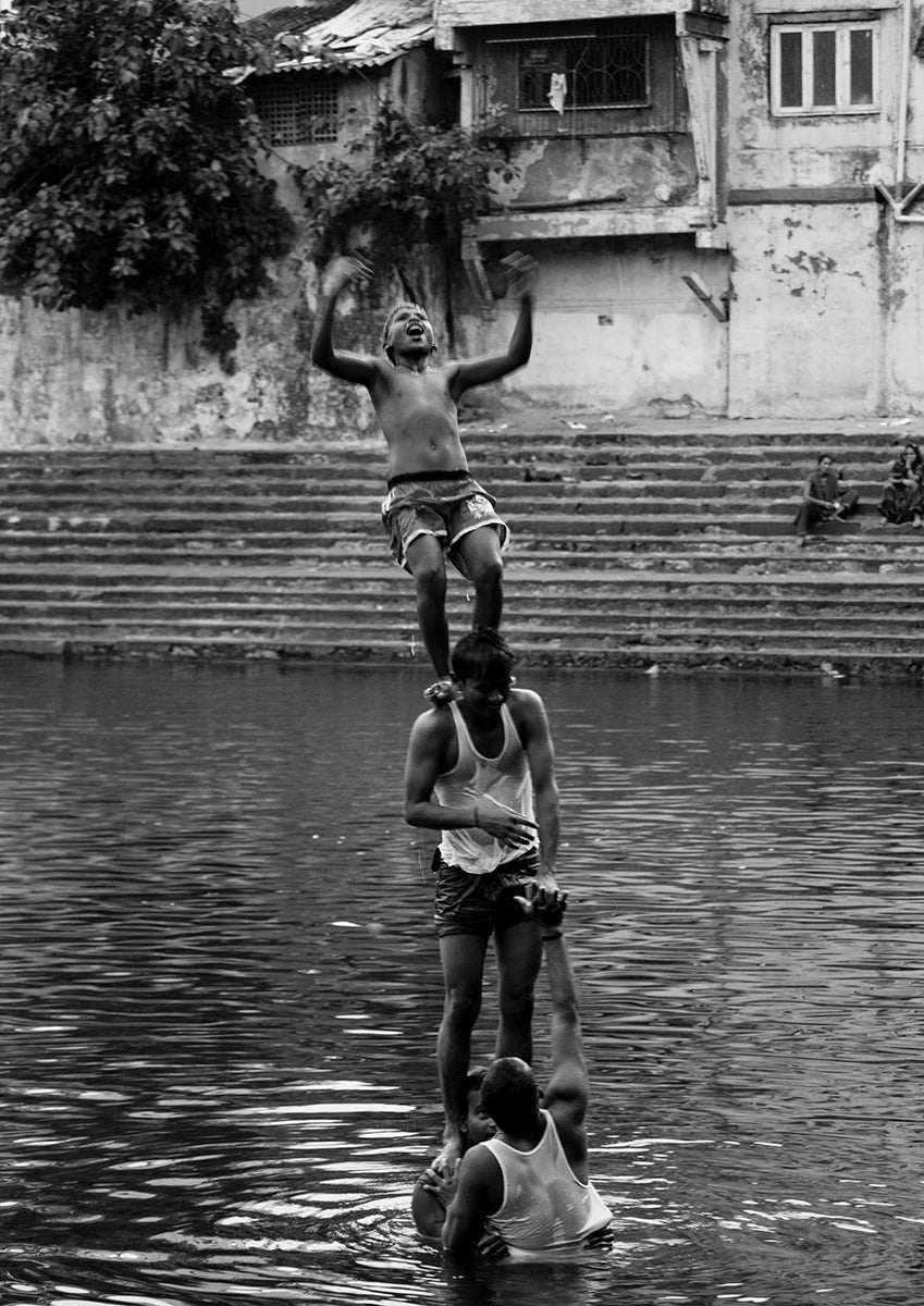 Young Boys Playing. Banganga- Mumbai