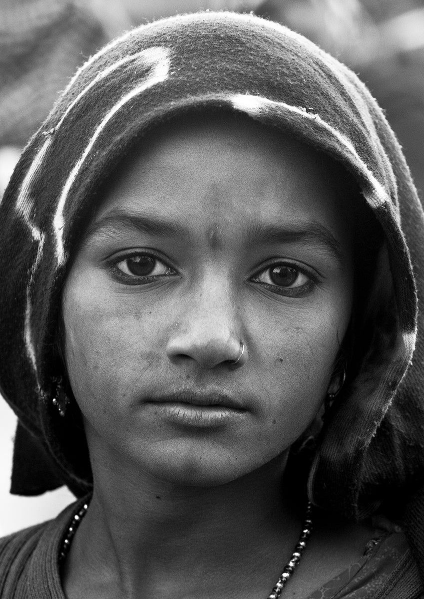 Young Rajasthani Girl In Pushkar- Rajsthan.