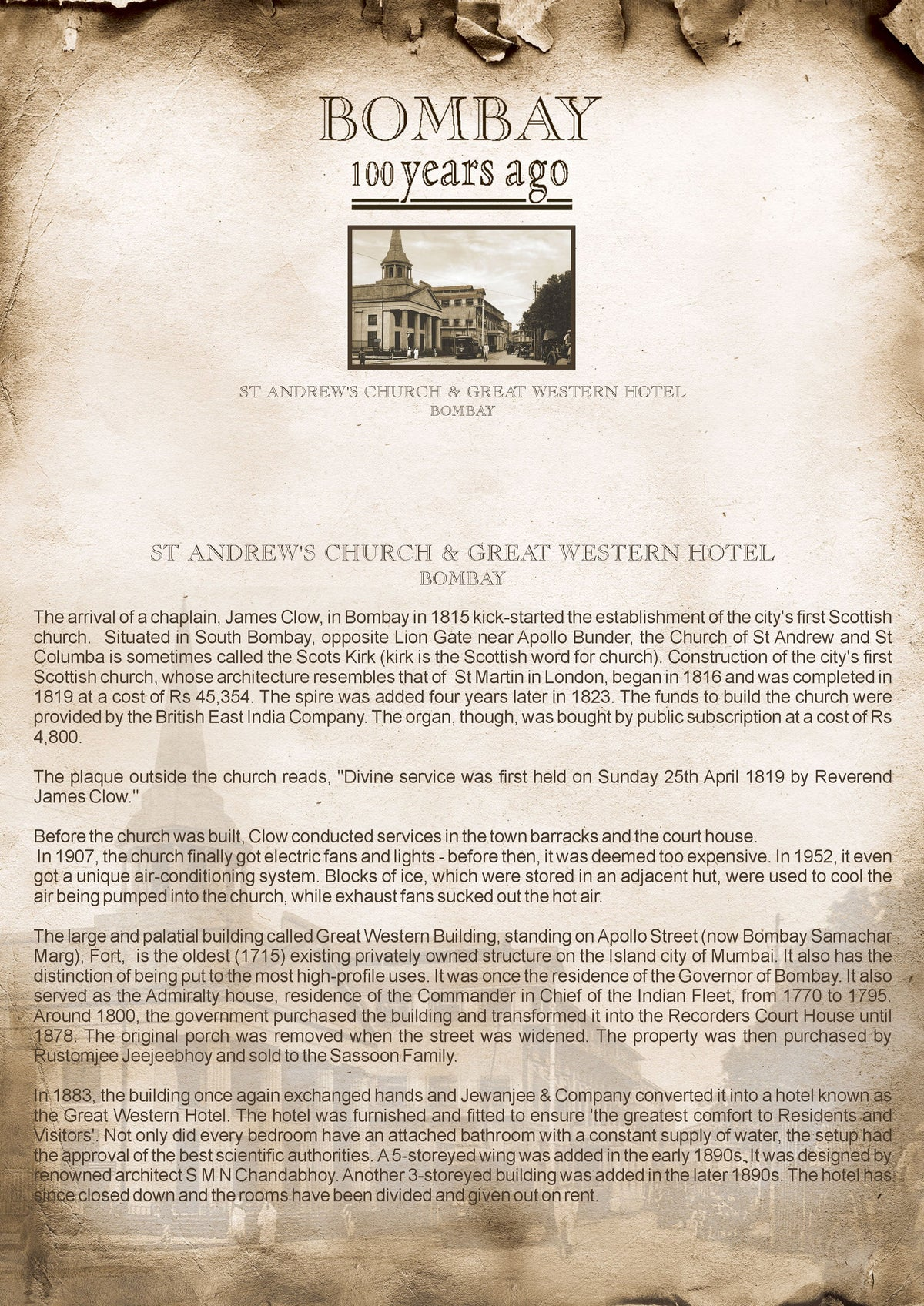 St. Andrews Church & Great Western Hotel