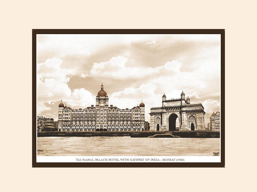 Taj Mahal Palace Hotel With Gateway Of India