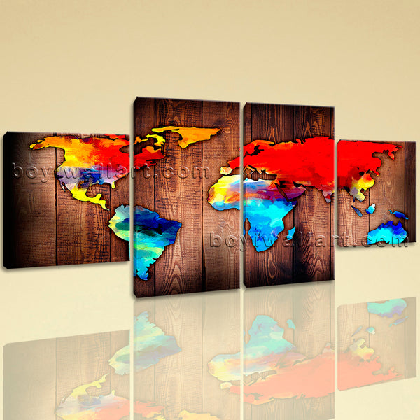 Grunge Rustic World Map