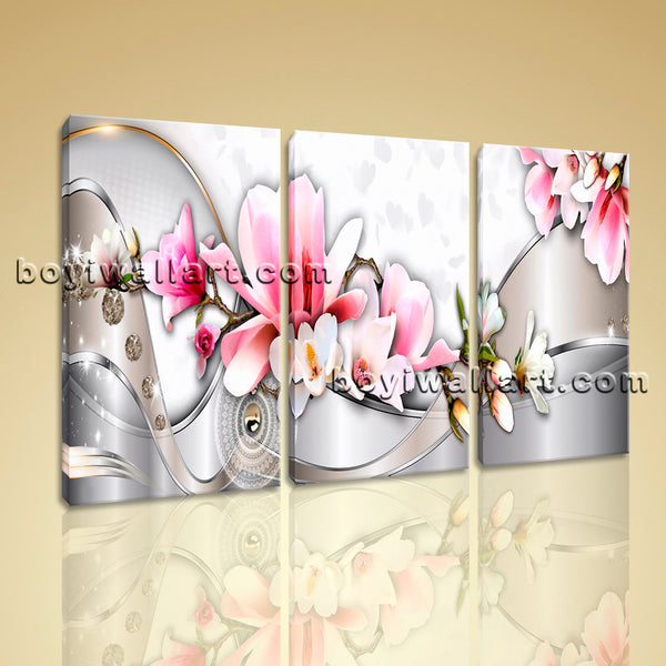 modern abstract tulip flower