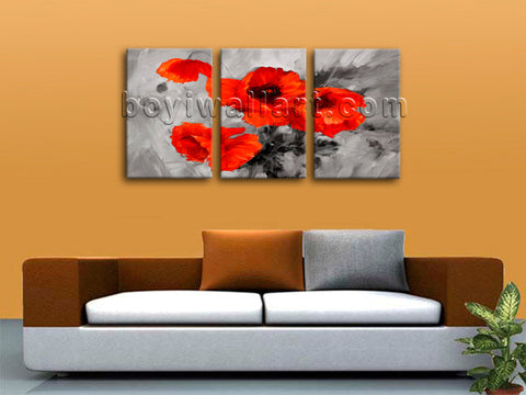 Poppy canvas art