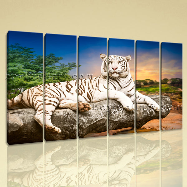 white tiger wall art