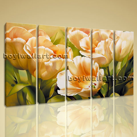Floral canvas art
