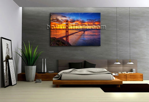Golden Bridge wall art