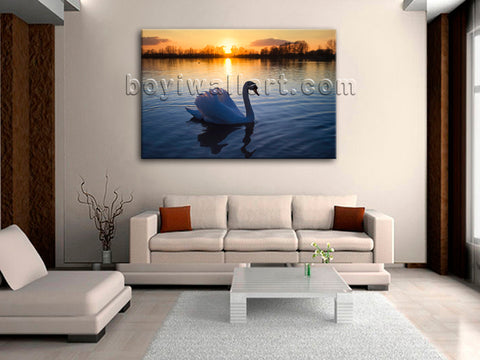 Swan canvas art