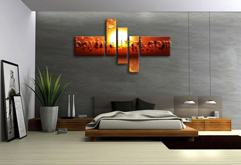 Sunset wall art