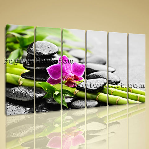 Zen Orchid And Stones