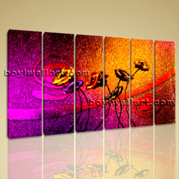 Abstract Acrylic Flower Paintings
