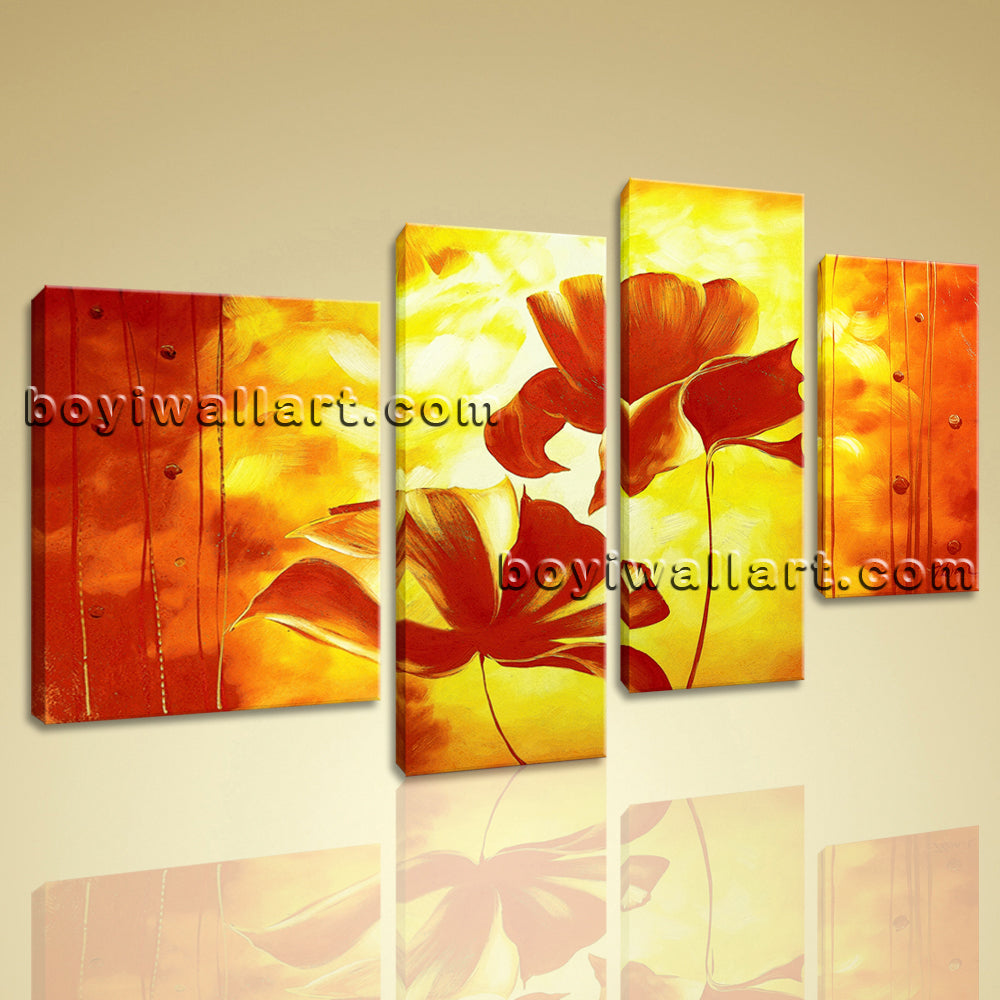 Large Wall Art Prints On Canvas Contemporary Abstract Floral Artwork ...