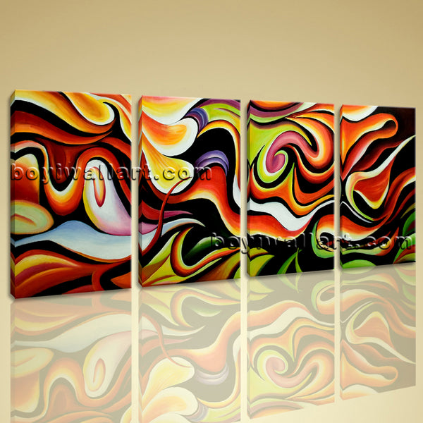 flowing abstract painting