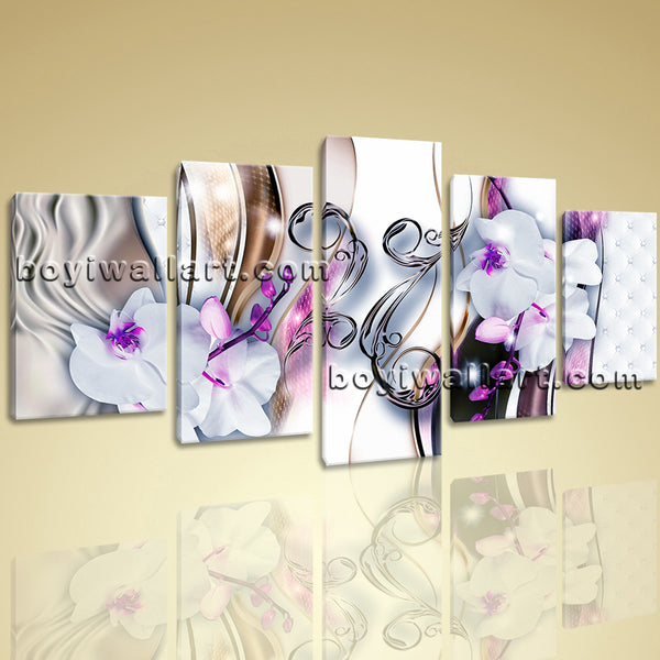 Unique Orchid Flower Canvas Wall Art