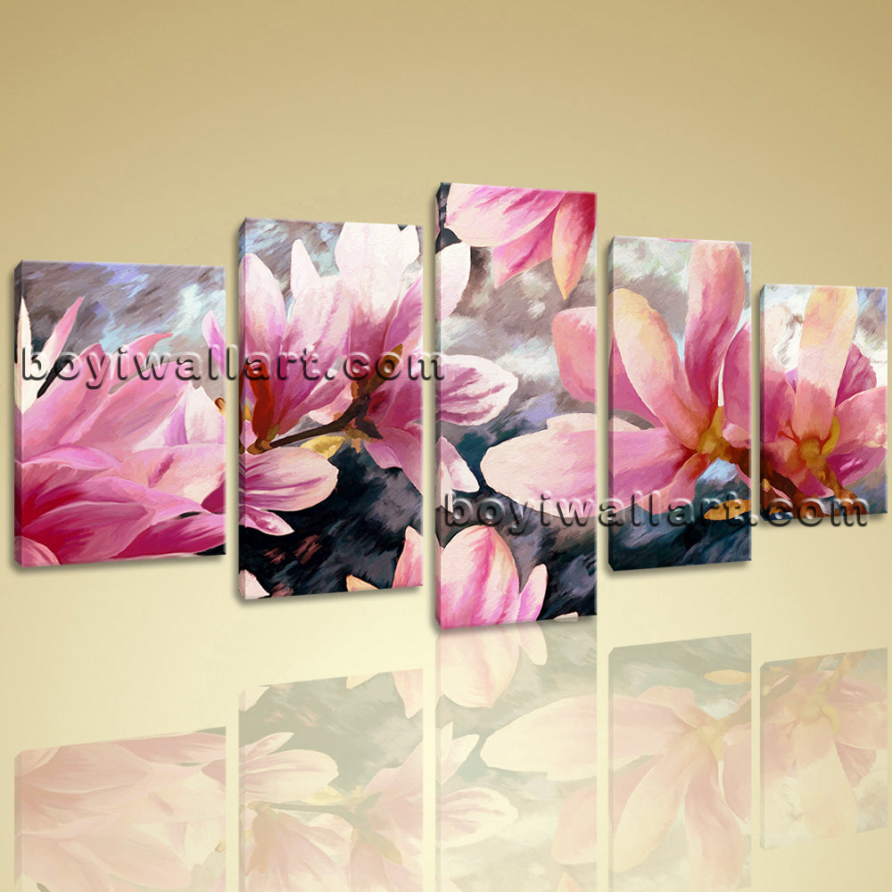 Large Unique Tulip Flower Wall Art Contemporary Painting On Canvas Print
