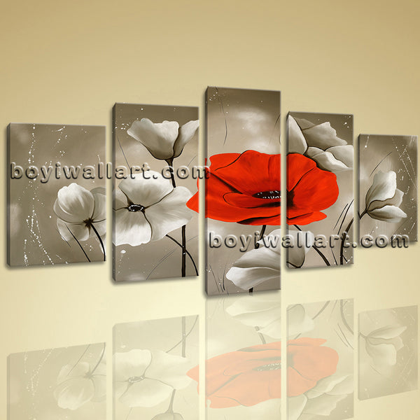 Unique Poppy Flower Wall Art