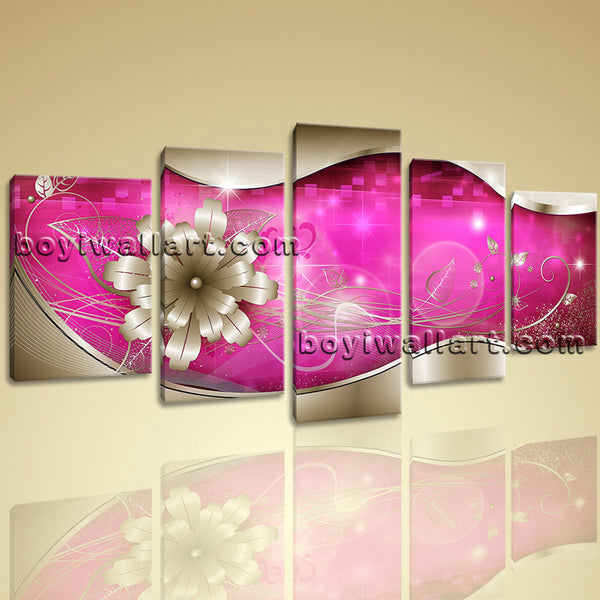 Vibrant Flower Canvas Art