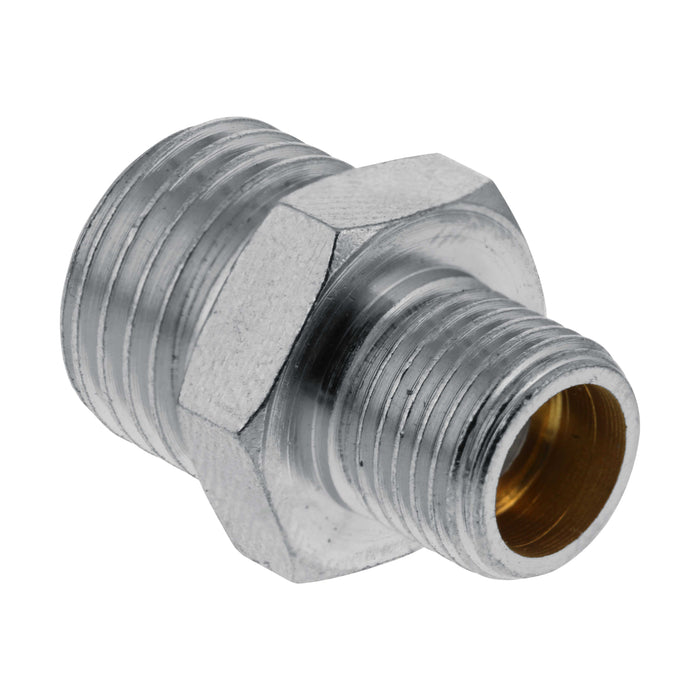 "1/8"" BSP Male to 1/4"" BSP Male Fitting Conversion Adapter Nipple"