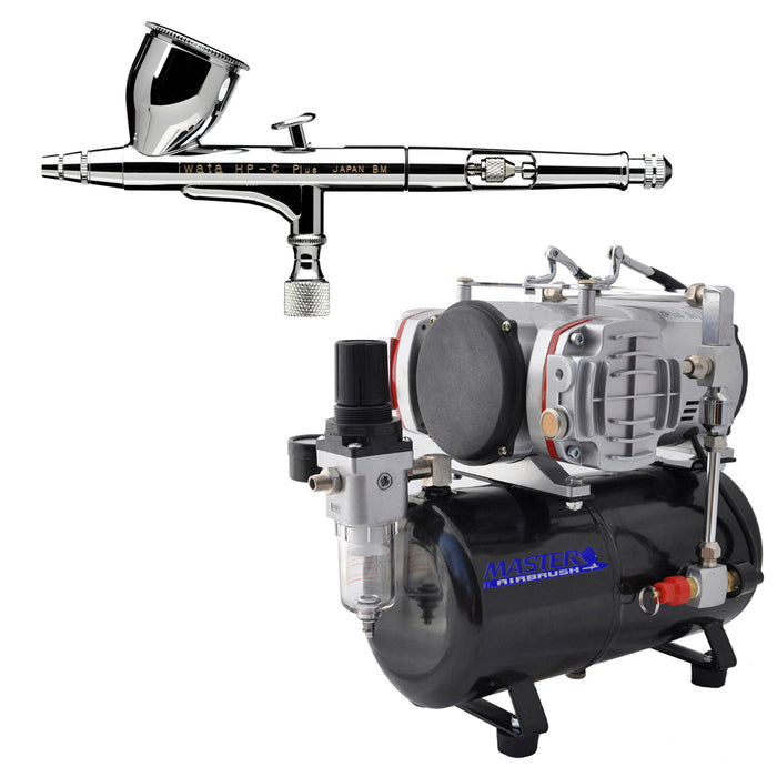 High Performance Plus HP-C Plus Airbrush Kit with Master Compressor TC-828 & Air Hose