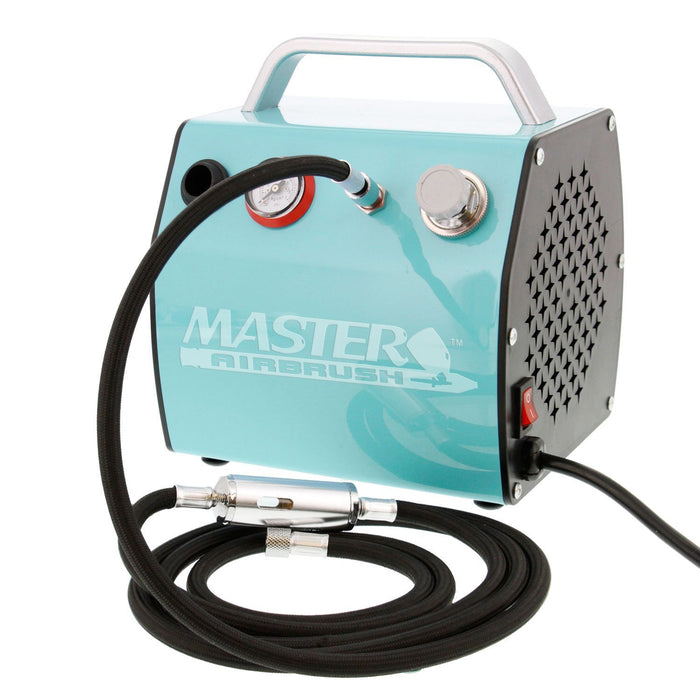 HP-CS .35mm Eclipse Airbrush with Model TC-77 Super Quiet High Performance Airbrush Air Compressor