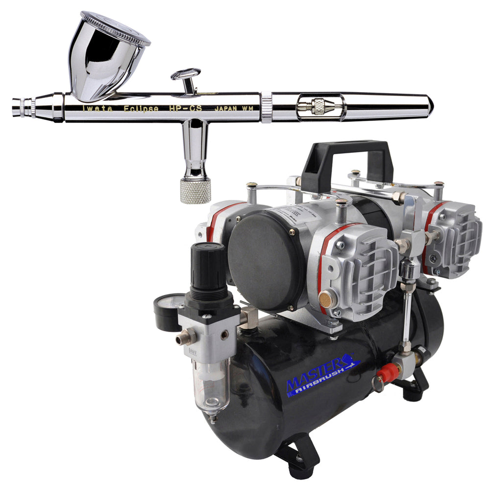 Eclipse HP-CS 4207 Airbrush Kit with Master Compressor TC-848 & Air Hose