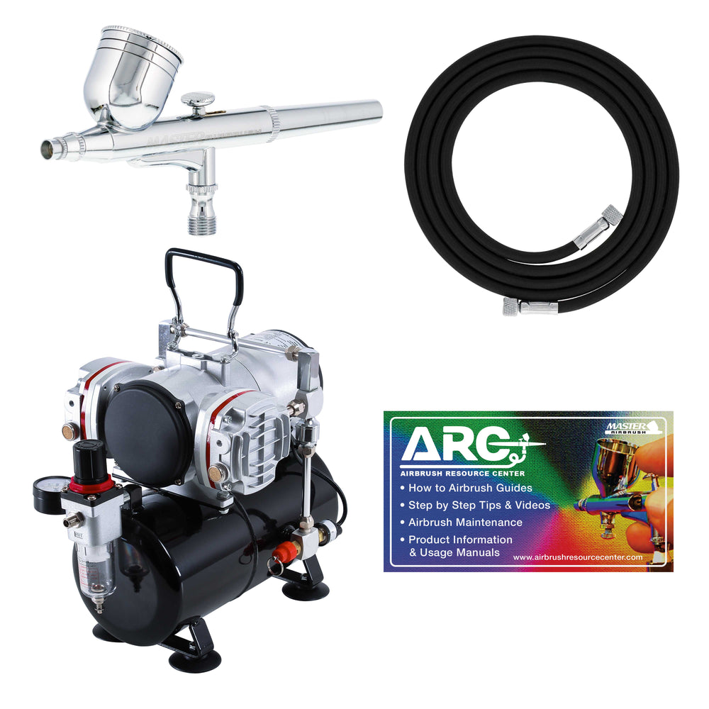 Master Performance G22 Airbrush Kit with Master Compressor TC-828 & Air Hose