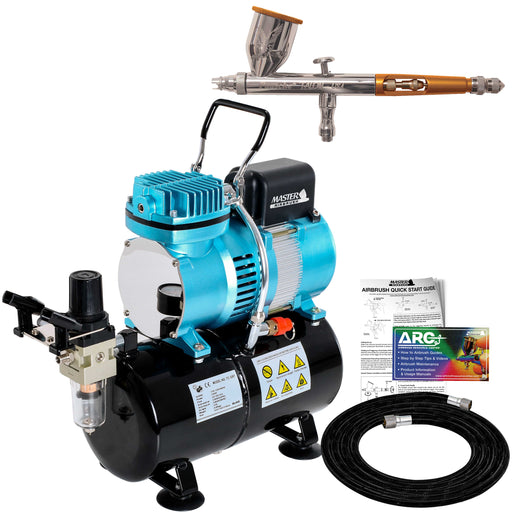 Talon TG Series Dual-Action Gravity Feed Airbrush Only with Master TC-326T Compressor & Air Hose