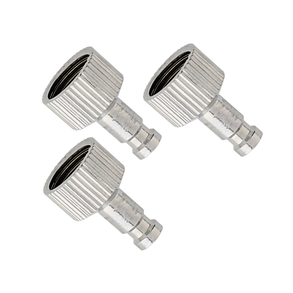 Set of 3 Airbrush Quick Release Coupler Plugs with 1/8 in. BSP Female Thread Connections and 5mm Male Nipple Tails (Quick Connect Coupler Not Included)