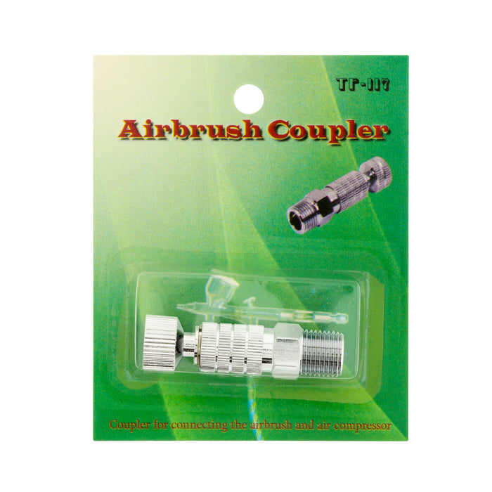Airbrush Quick Release Disconnect Coupler with Plug 1/8 in. BSP Male and Female Connections