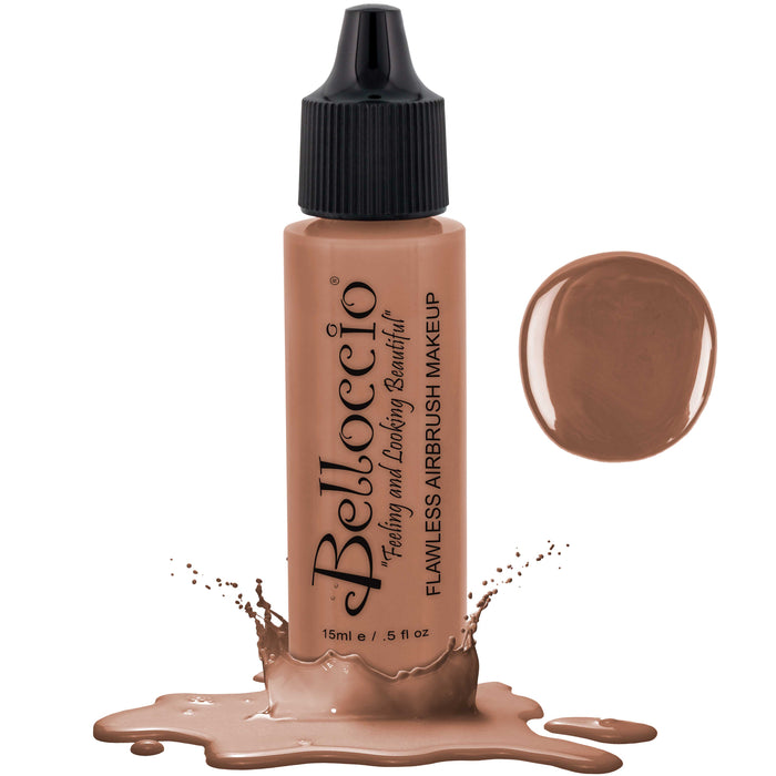 BEIGE Color Shade Belloccio Professional Airbrush Makeup Foundation, 1/2 oz.