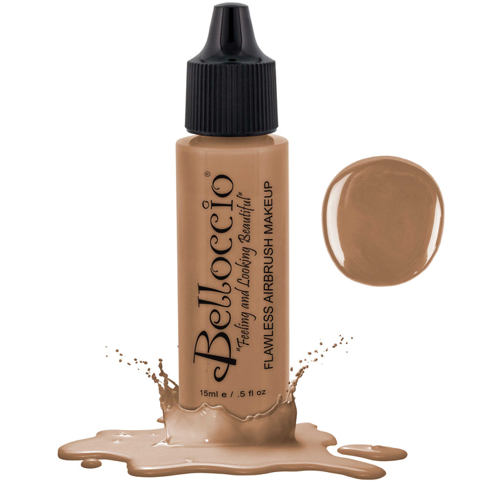 CAPPUCCINO Color Shade Belloccio Professional Airbrush Makeup Foundation, 1/2 oz.