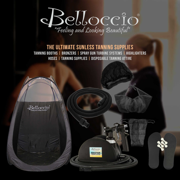 1 Pint of Belloccio Simple Tan Professional Salon Sunless Tanning Solution with 12% DHA and Dark Bronzer Color Guide