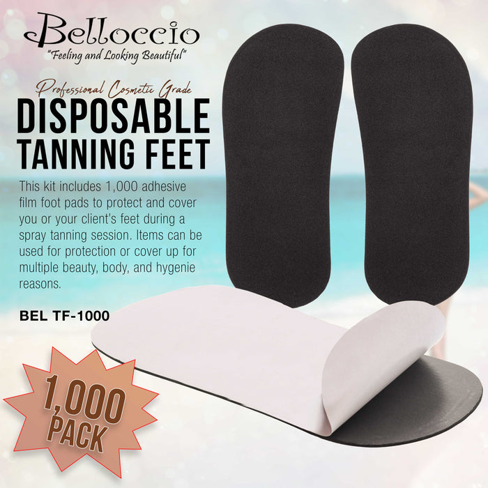 500 Pairs of Disposable Tanning Feet Pads (1000 Feet Total); Sunless Airbrush Spray Tanning Tent Foot Protection; (Color Varies)