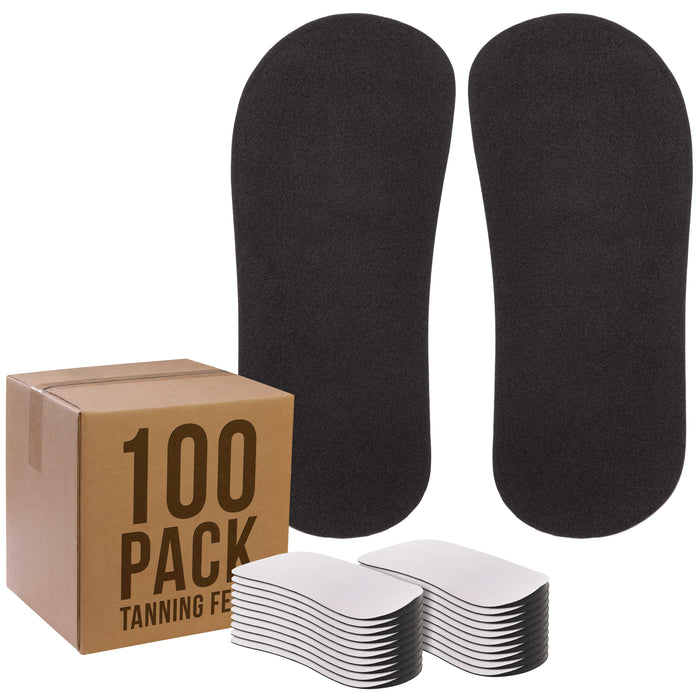 100 Pairs of Disposable Tanning Feet Pads (200 Feet Total); Sunless Airbrush Spray Tanning Tent Foot Protection; (Color Varies)Y