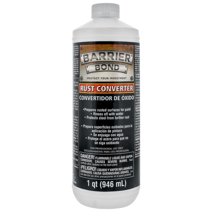 Barrier Bond - Rust Off - Rust-Converter Coating - 1 Quart Bottle of Premium Rust Converting Coating - Anti-Rust Protection for Underbody Rustpoofing - Converts Rust to an inert Black Barrier