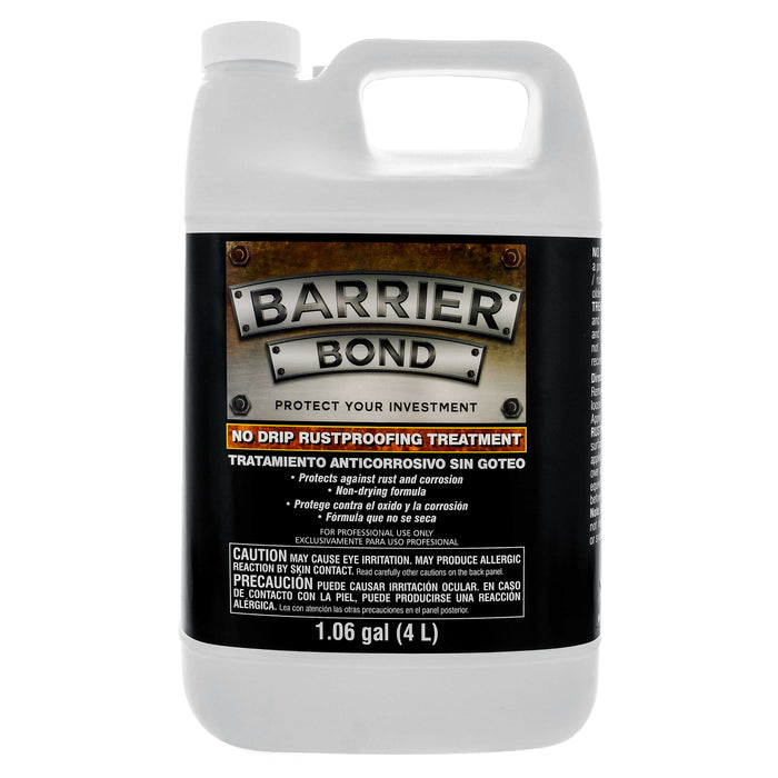 Barrier Bond - NO-DRIP Rust-Proofing Coating - 1 Gallon Container of Premium Rust Inhibitor/Preventor Amber Color - Anti-Corrosive and Anti-Rust Qualities - for Undercoating Underbody Rustproofing