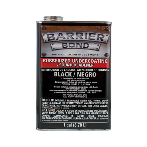 Black Rubberized Undercoating Sound Deadener - Gallon