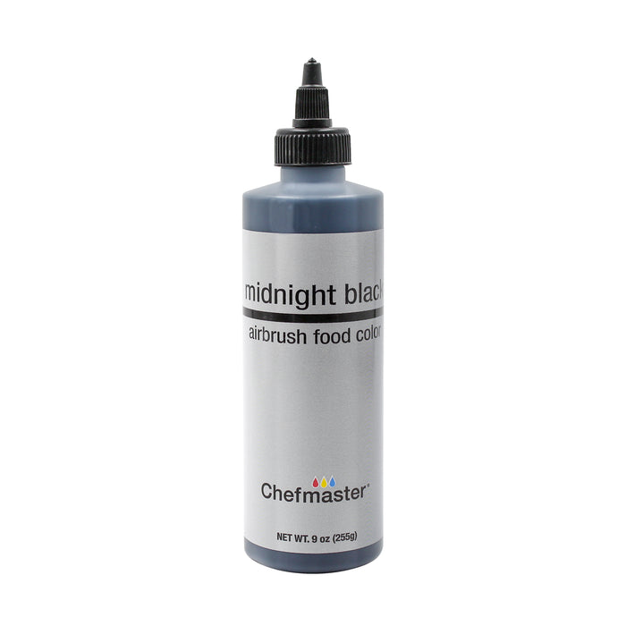 Midnight Black, Airbrush Cake Food Coloring, 9 fl oz.
