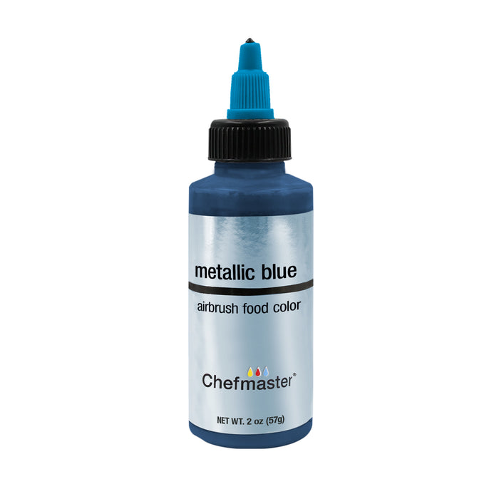 Metallic Blue, Airbrush Cake Food Coloring, 2 fl oz.
