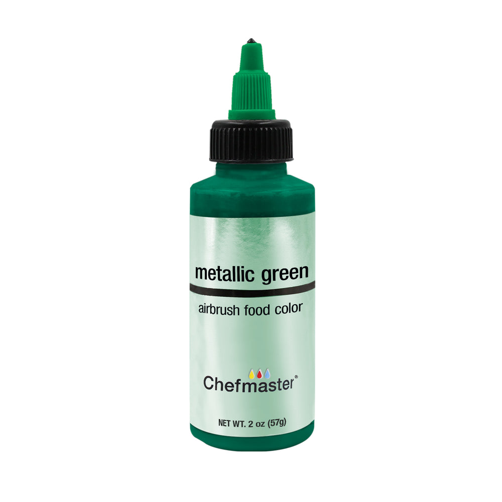 Metallic Green, Airbrush Cake Food Coloring, 2 fl oz.