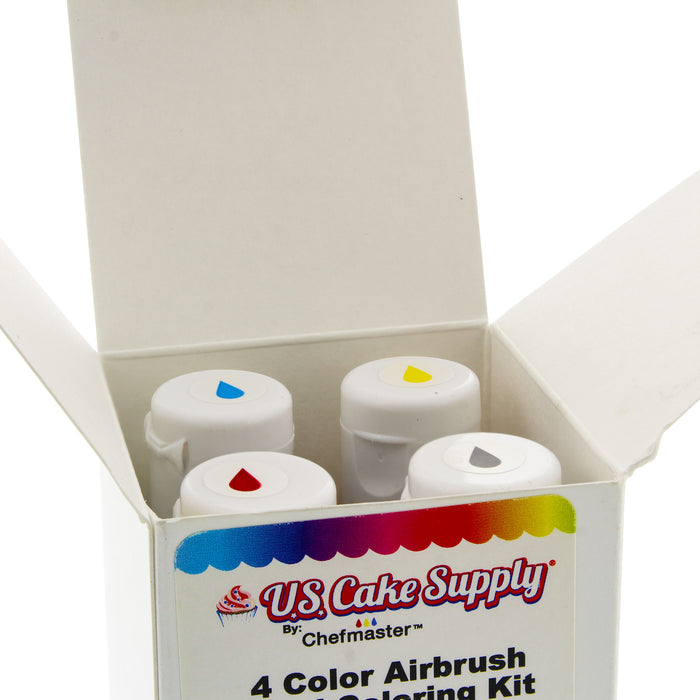 Chefmaster 4-Color 20ml Airbrush Cake Color Set
