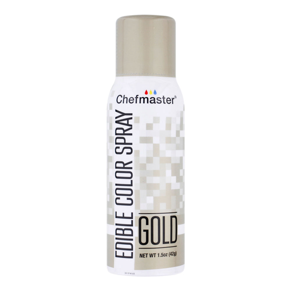 Edible Spray Color 1.5oz Can - Metallic Gold