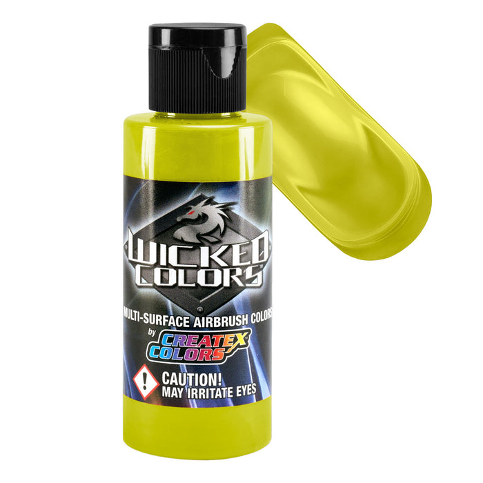 Yellow - Wicked Colors Airbrush Paint, Semi-Gloss Finish, 2 oz.