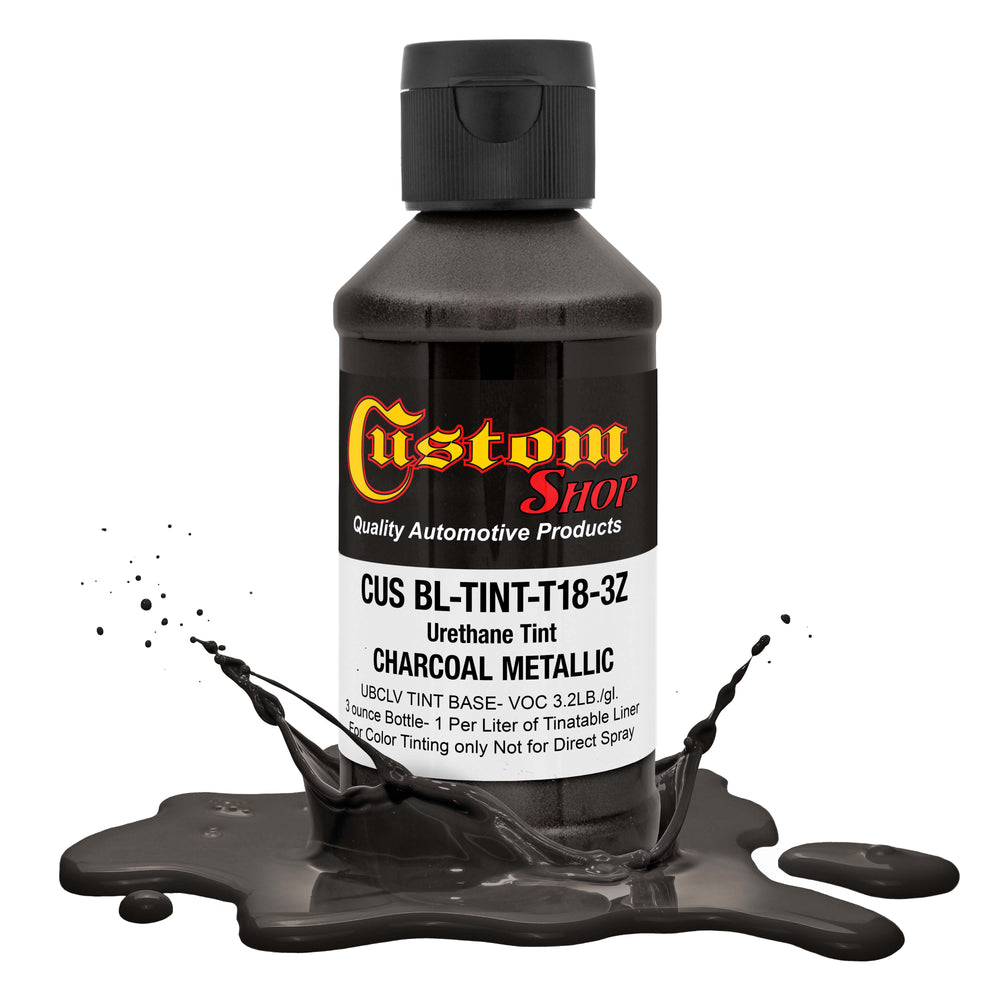 3 Ounce (Charcoal Metallic Color) Urethane Tint Concentrate for Tinting Truck Bed Liner Coatings - Proportioned for Use in Most Tintable Sprayable and Rollable Liner Brands