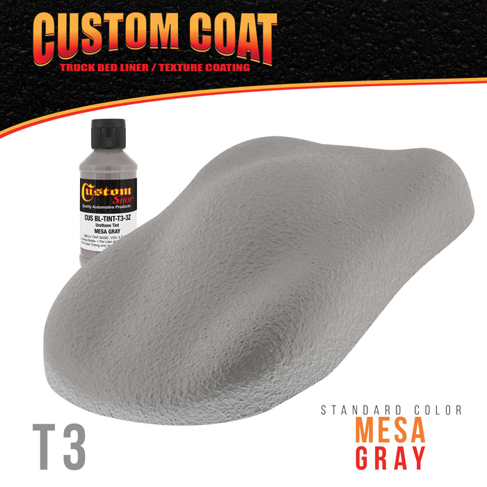 3 Ounce (Mesa Gray Color) Urethane Tint Concentrate for Tinting Truck Bed Liner Coatings - Proportioned for Use in Most Tintable Sprayable and Rollable Liner Brands