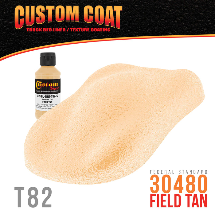 Camouflage Series 3 Ounce (Field Tan Federal Standard Color #30480) Urethane Tint Concentrate for Tinting Truck Bed Liner Coatings - Sprayable & Rollable