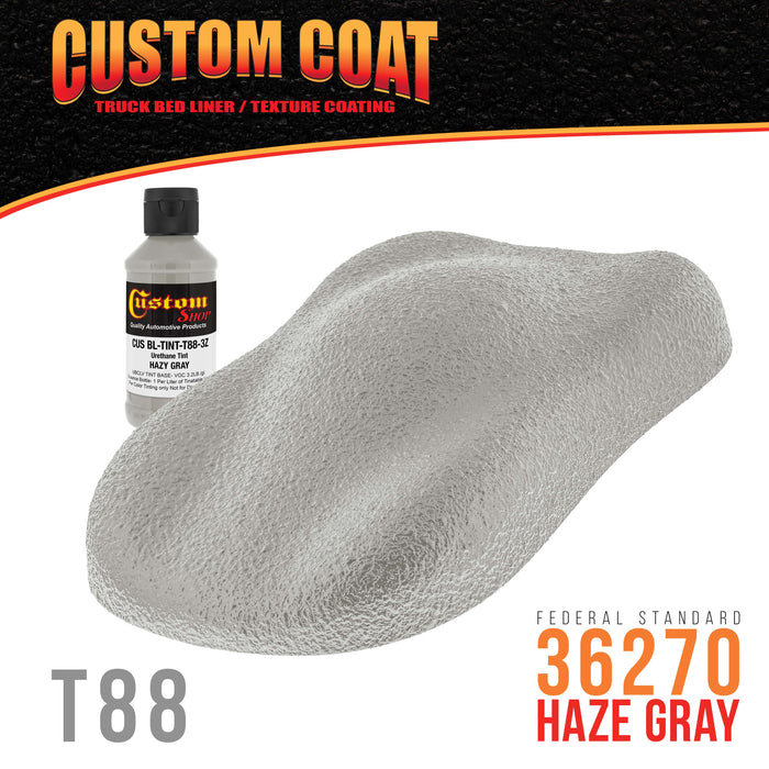 Camouflage Series 3 Ounce (Haze Gray Federal Standard Color #36270) Urethane Tint Concentrate for Tinting Truck Bed Liner Coatings - Sprayable & Rollable