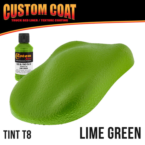 Lime Green 1 Quart Urethane Spray-On Truck Bed Liner Kit - Easy Mixing, Just Shake, Shoot - Durable Shake, Shoot - Professional Durable Textured Protective Coating