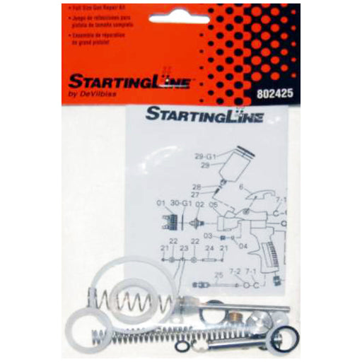 Startingline Full Size 1.3, 1.8 HVLP Spray Gun Repair Rebuild Kit