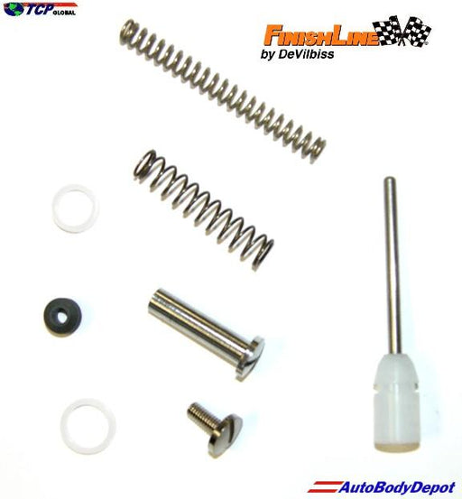 Repair Kit (Fluid Tip Seal, Seal, Needle Spring, Air Valve, Air Valve Spring, Trigger Screw, Trigger Stud and Needle Packing) 690031 for Finishline FLG3 Spray Guns