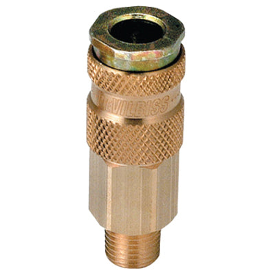 "Quick Disconnect (1/4"" NPT Male) High Flow Ball and Ring Lock Type 240147"
